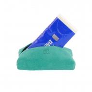 Porta pañuelos en piel acabado serraje