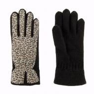 Guantes lana y leopardo