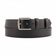 Cinturon piel lisa negro tallas especiales