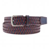 Cinturón piel trenzada tricolor Miguel Bellido