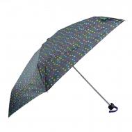 Paraguas negro mini manual lunares Benetton
