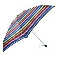 Paraguas negro rayas mini manual Benetton