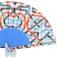 Abanico batik estampado líneas multicolor 106966