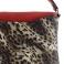 Bolso sintético rojo y estampado leopardo 105292