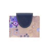 Tarjetero Klimt Amichi lona y piel con broche