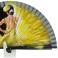 Abanico diseño negro de bailarina flamenca 110349