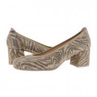 Zapatos salón piel imitación serpiente beige