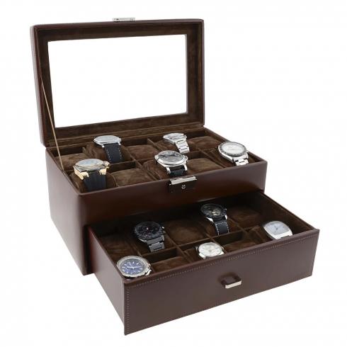 e9e2fb3ce Estuche 20 relojes piel negra Comprar regalos online
