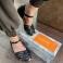 Sandalias piel negra estilo cangrejeras Porronet 117553