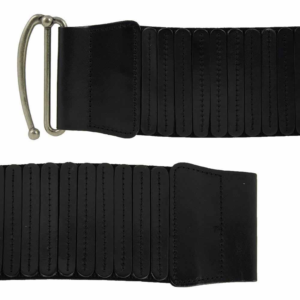 estilo máximo extremadamente único seleccione para auténtico Cinturón ancho elástico con piel