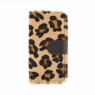 Billetero cremallera piel leopardo