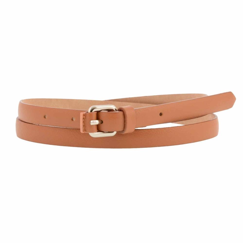 selección premium 543da 722f9 Cinturón piel hebilla plata estrechito