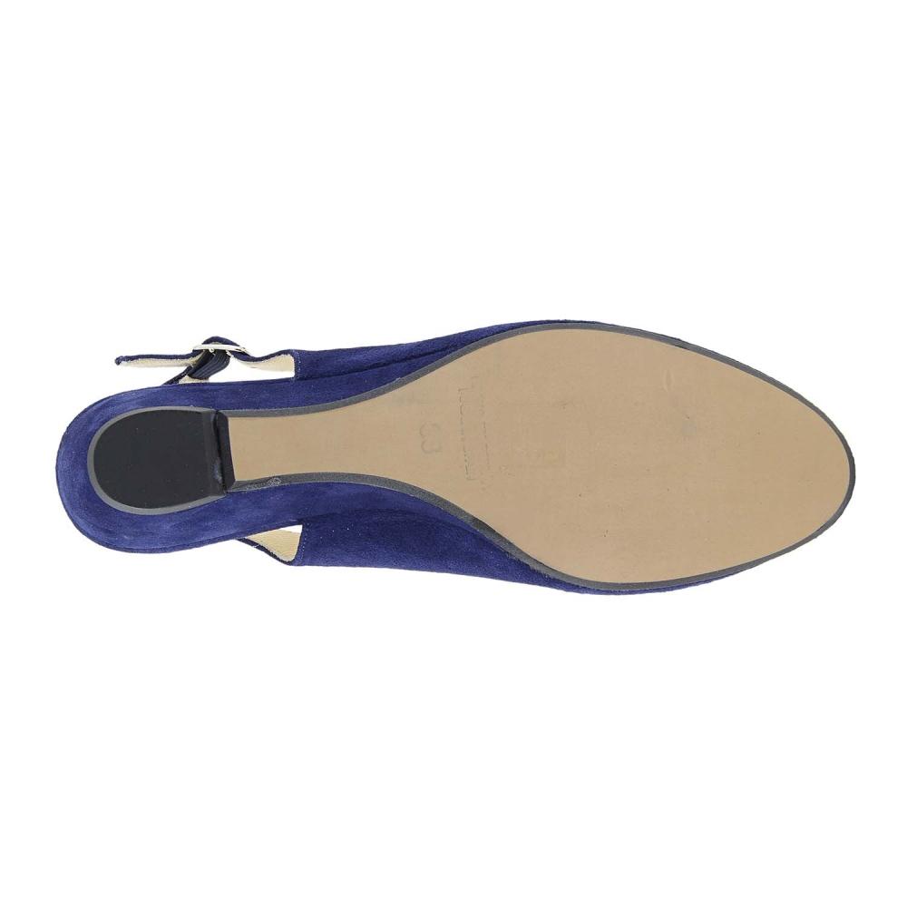 Zapatos cuña piel serraje destalonados - Paula Alonso - Tienda online 37e226168cfa